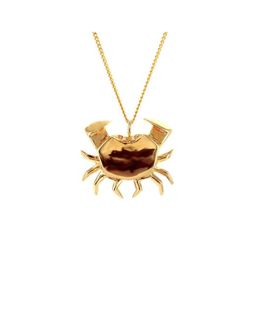 Origami Jewellery - Metallic Crab Necklace Gold - Lyst