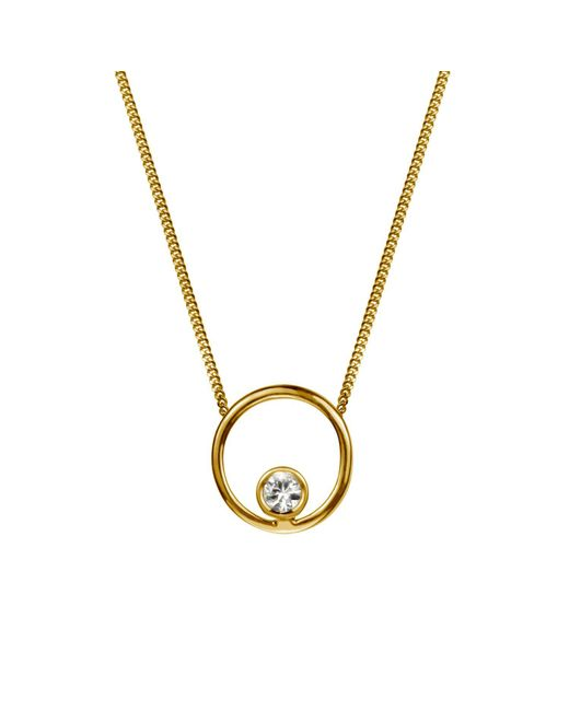 Lee Renee - Metallic Halo Necklace White Sapphire & Gold Vermeil - Lyst