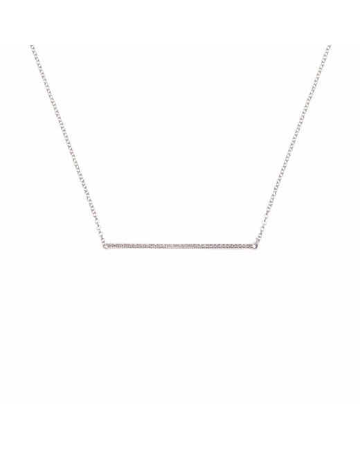 Ri Noor - Metallic Thin Diamond Bar Necklace - Lyst
