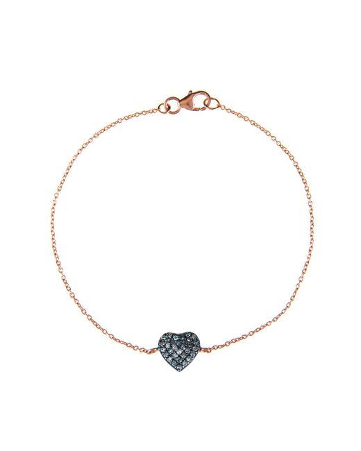 Latelita London - Multicolor Diamond Heart Bracelet - Lyst