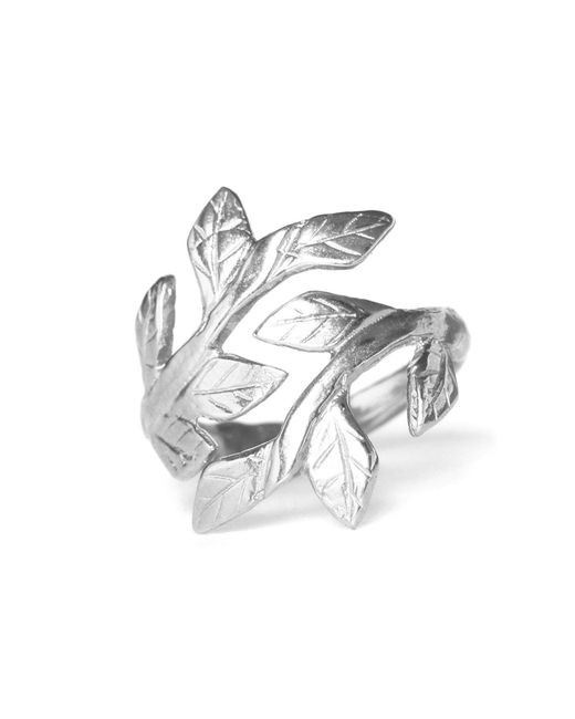Chupi - Metallic Wrap Your Laurels Around Me Ring Silver - Lyst