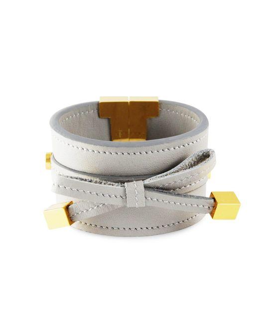 Tissuville - Metallic Bow & Cube Silver Grey Bracelet Gold - Lyst