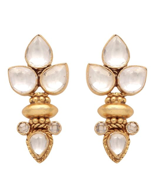 Carousel Jewels | Metallic Elegant Multi Crystal Gold Earrings | Lyst