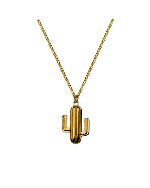 Lee Renee - Metallic Cactus Necklace Gold Vermeil - Lyst