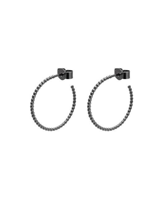 Myia Bonner - Black Medium Ball Hoop Earrings - Lyst