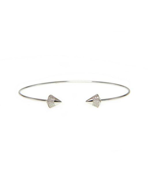 Ri Noor - Metallic Diamond Peaked Dome Bangle - Lyst