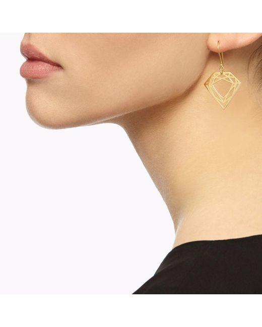 Myia Bonner Metallic Gold Classic Diamond Earrings