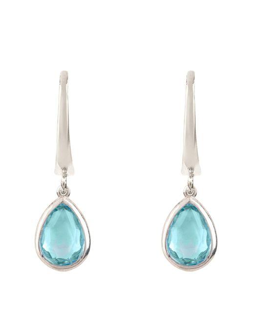 Latelita London - Pisa Mini Teardrop Earring Silver Blue Topaz - Lyst