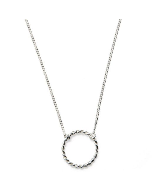 Isabel Lennse | Metallic Small Twisted Circle Necklace | Lyst
