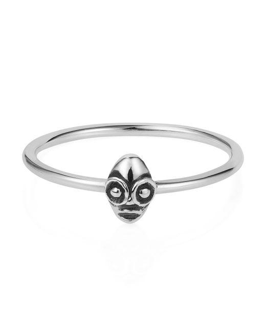 Lee Renee Metallic Tiny Voodoo Ghede Ring Silver