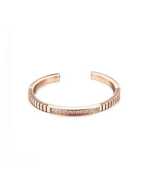 Opes Robur - Metallic Rose Gold Plated Titanium Steel Roman Bracelet - Lyst
