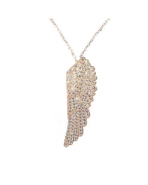 Latelita London - Metallic Angel Wing Necklace Rosegold - Lyst