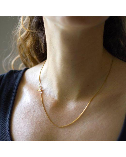 Lee Renee Metallic Swallow Necklace – Gold Vermeil