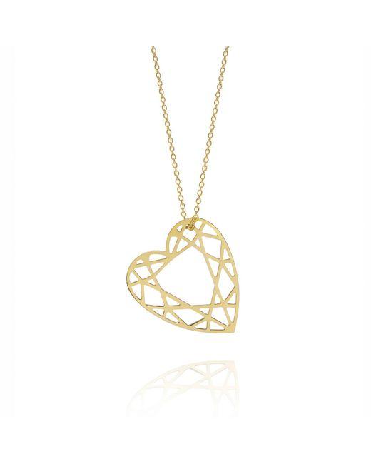 Myia Bonner - Metallic Gold Heart Diamond Necklace - Lyst