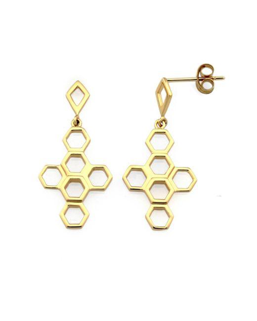 Monarc Jewellery - Metallic The Vita Hive Earrings 9ct Gold - Lyst