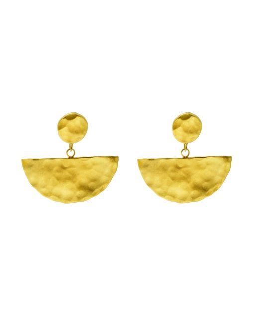 Yvonne Henderson Jewellery - Metallic Gold Half Moon Drop Earrings - Lyst
