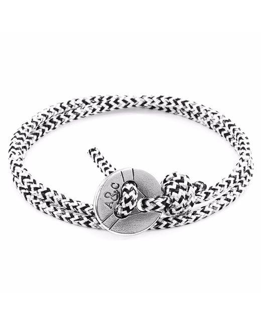 Anchor & Crew   White Noir Lerwick Silver & Rope Bracelet for Men   Lyst