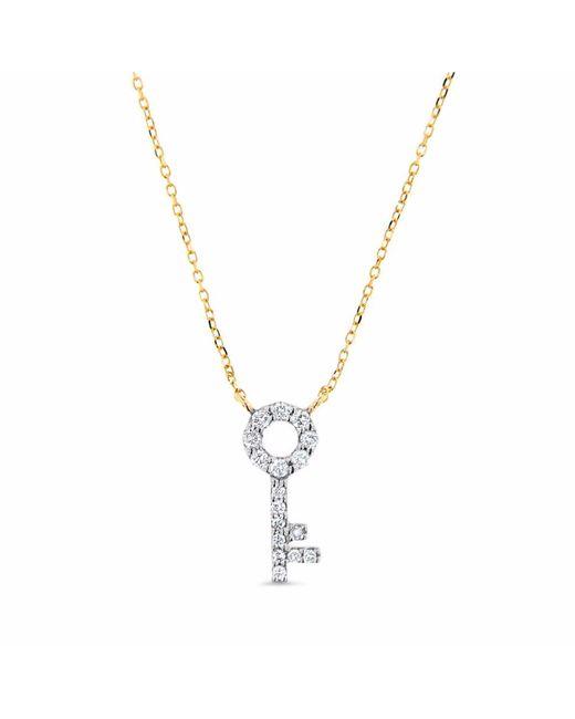 Cosanuova - Metallic Key Necklace 14k Yellow Gold - Lyst