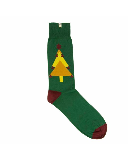 40 Colori - Green Christmas Tree Organic Cotton Socks for Men - Lyst