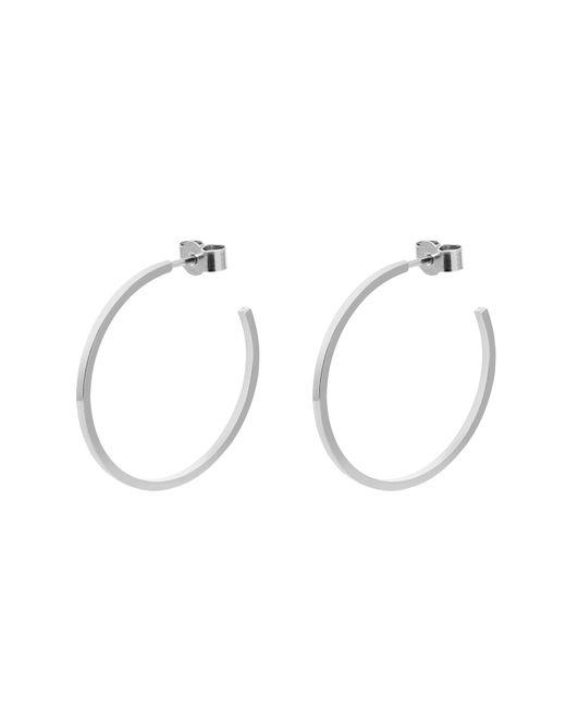 Myia Bonner - Metallic Silver Large Hoop Earrings - Lyst