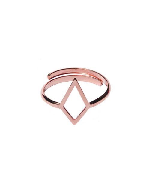 Dutch Basics - Metallic Ruit Adjustable Knuckle Ring Rose Gold - Lyst