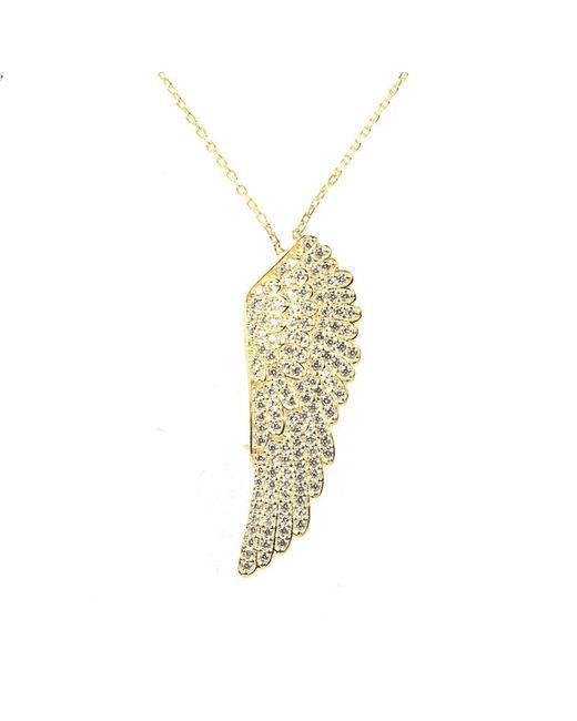 Latelita London - Metallic Angel Wing Necklace Gold - Lyst