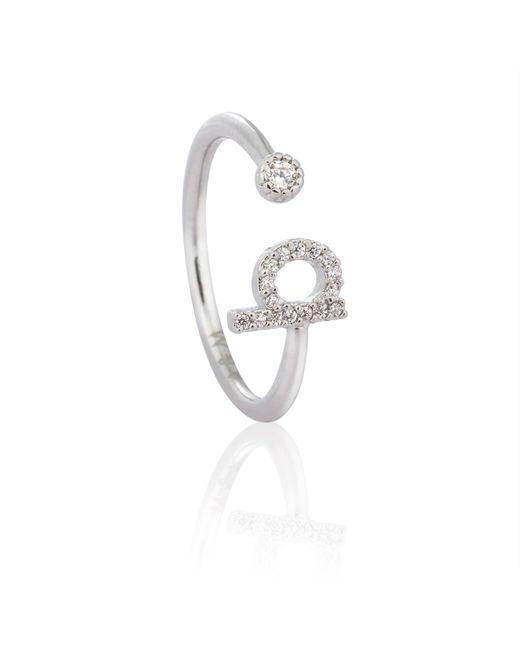Astrid & Miyu - Metallic Silver Initial B Ring - Lyst