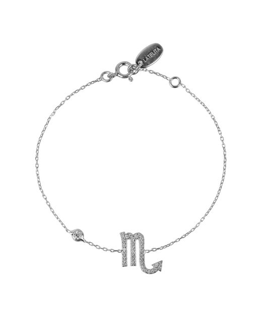 Latelita London - Metallic Zodiac Bracelet Silver Scorpio - Lyst