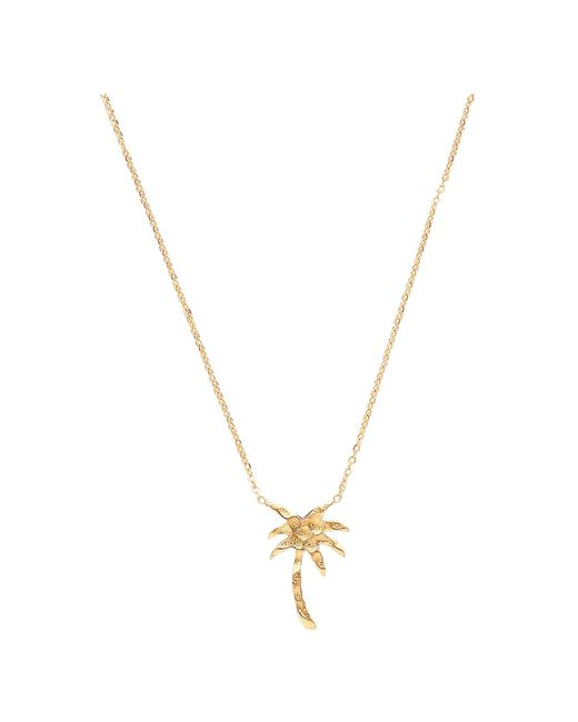 Ottoman Hands - Metallic Small Gold Palm Tree Necklace - Lyst