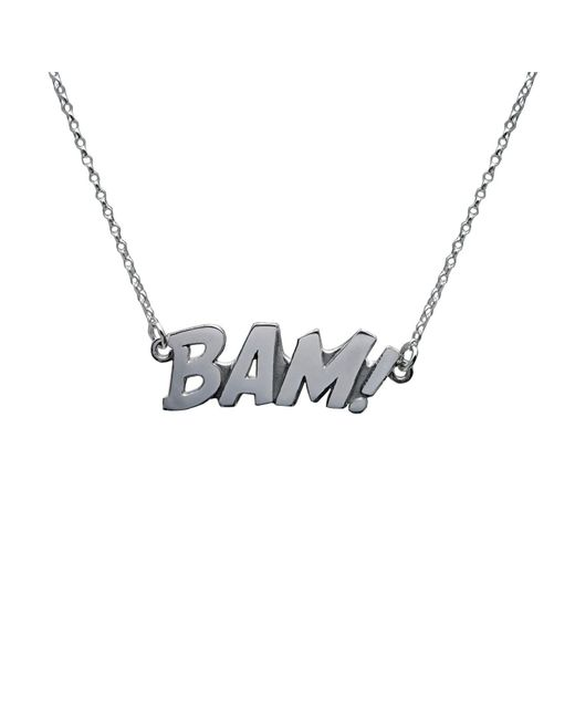 Edge Only - Metallic Bam Letters Necklace Large In Silver - Lyst