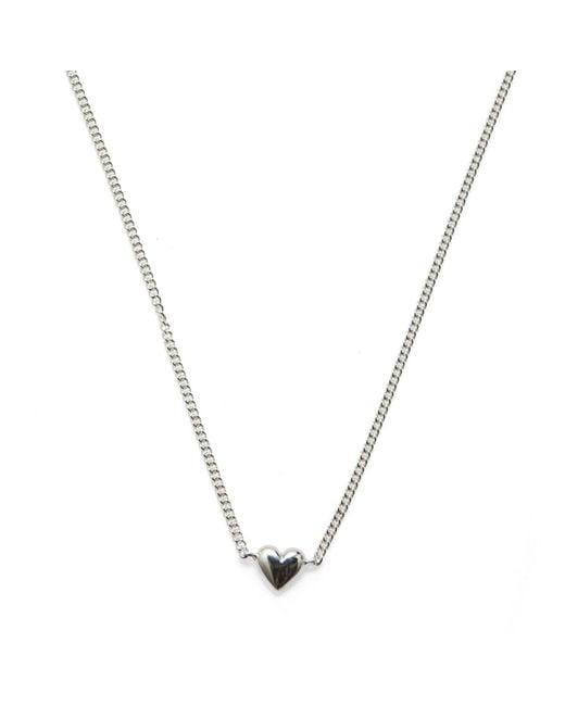Isabel Lennse | Metallic Mini Heart Necklace | Lyst