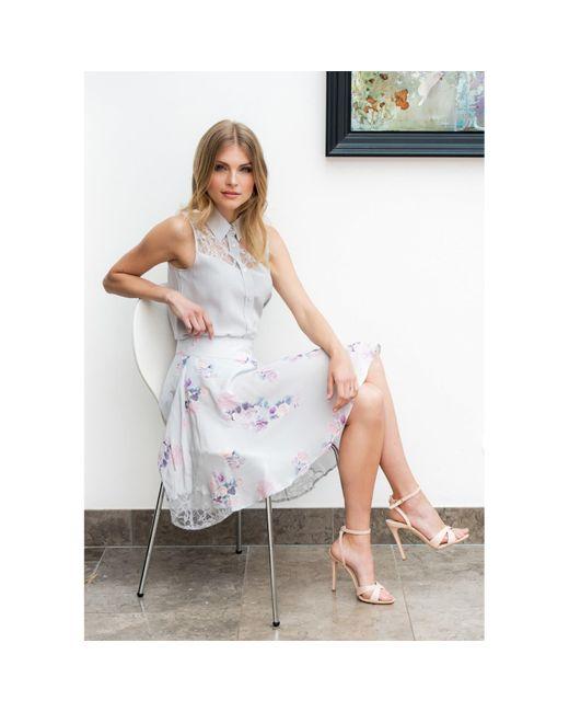 Sophie Cameron Davies Multicolor Rose Silk Skirt