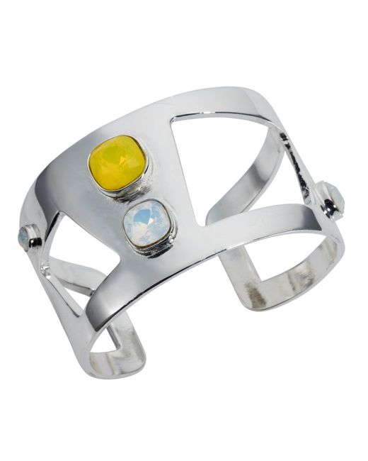 Nadia Minkoff | Metallic Wide Statement Cuff Silver Yellow | Lyst