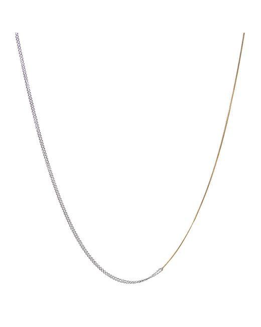 Dutch Basics - Metallic Interlinked Chains Necklace Gold - Lyst