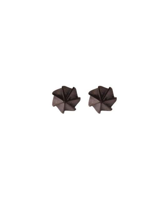 Edge Only - Diamond Cut Cylinder Drop Earrings Black - Lyst