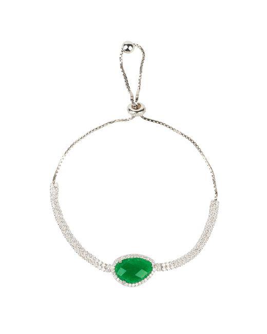 Latelita London - Multicolor Sofia Green Onyx Gemstone Bracelet Silver - Lyst
