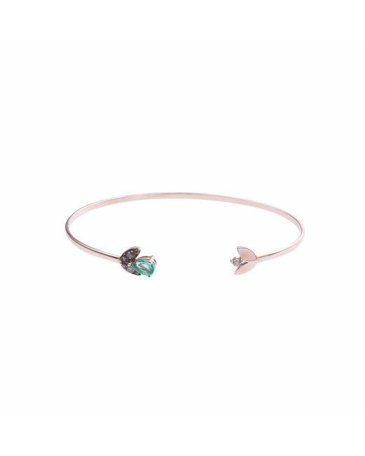 Sadekar Jewellery | Multicolor Emerald Seed Flower Bracelet | Lyst