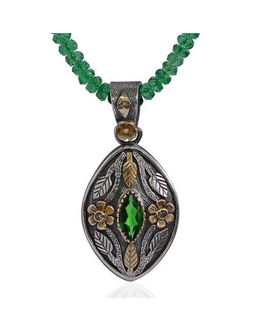 Emma Chapman Jewels | Green Madison Tsavorite & Diamond Pendant | Lyst