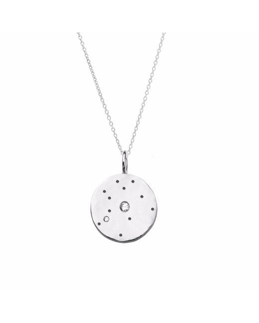Yvonne Henderson Jewellery - Metallic Aquarius Constellation Necklace With White Sapphires Silver - Lyst