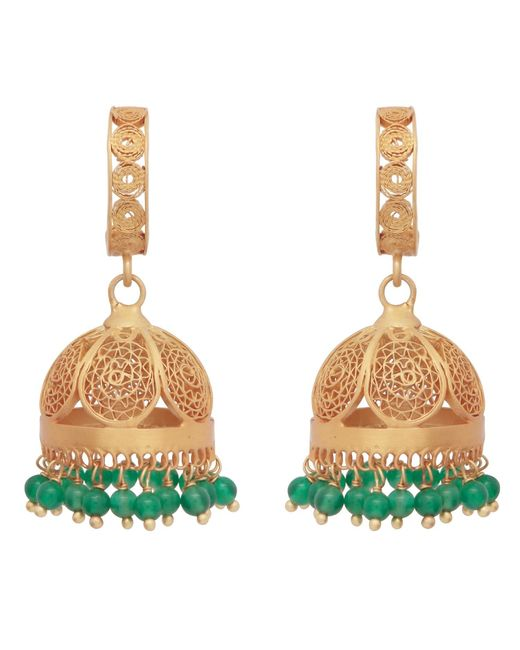 Carousel Jewels | Gold & Green Onyx Chandelier Statement Earrings | Lyst