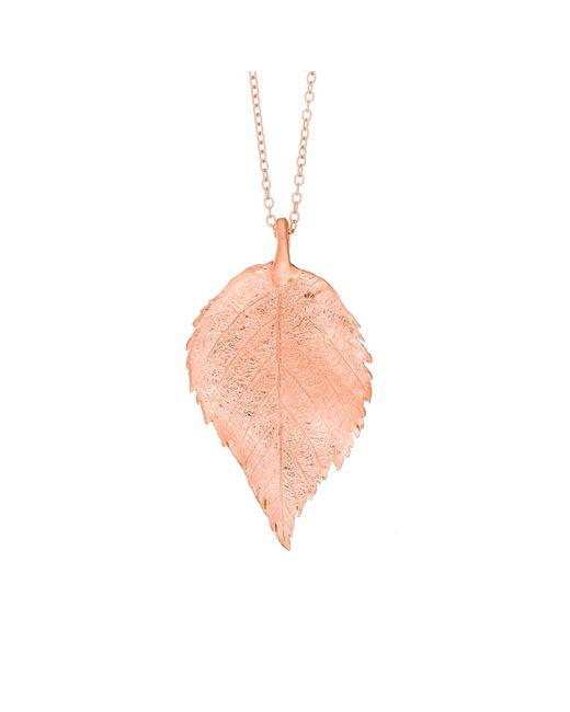 Chupi - Pink Maxi Raspberry Leaf Necklace Rose Gold - Lyst