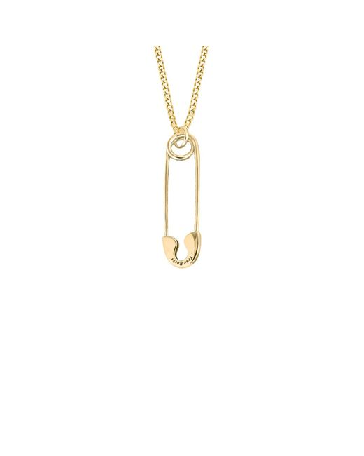 True Rocks - Metallic Safety Pin Necklace Small Gold - Lyst