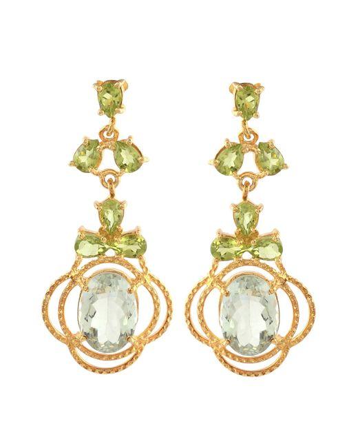Carousel Jewels - Metallic Peridot & Topaz Statement Earrings - Lyst