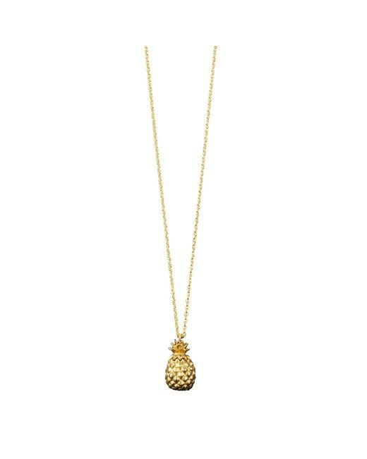 Catherine Zoraida - Metallic Pineapple Locket Necklace - Lyst
