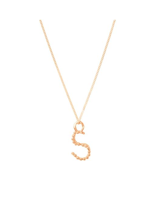 Lily Flo Jewellery - Metallic Solid Rose Gold S Letter Pendant Necklace - Lyst
