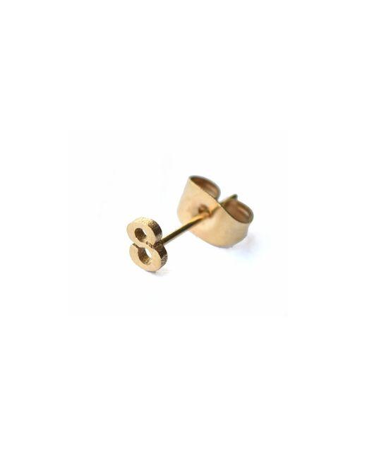 Whistle & Bango - Metallic Little Number 8 Earring 18ct Plating - Lyst
