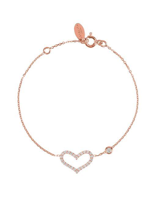 Latelita London   Multicolor Open Heart Bracelet Rosegold   Lyst