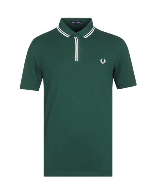 Fred Perry Tipped Placket Ivy Green Polo Shirt for men
