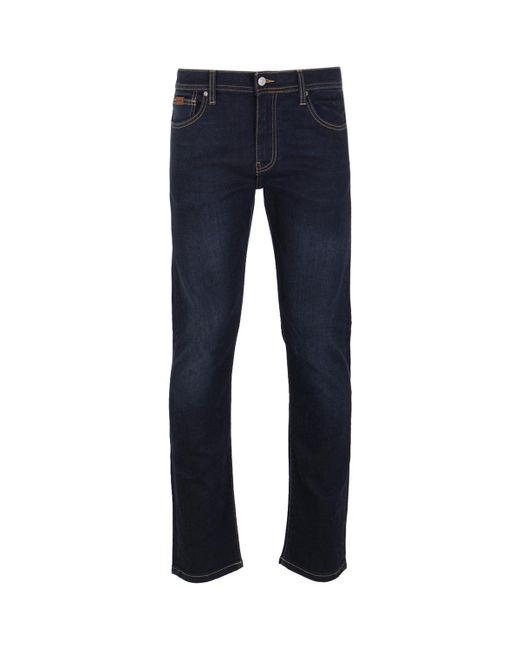 Armani Exchange - Blue One Wash Indigo Denim Tobacco Stitch Straight Leg Jeans for Men - Lyst