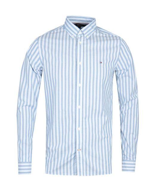 Tommy Hilfiger Slim Houndstooth Blue Shirt for men